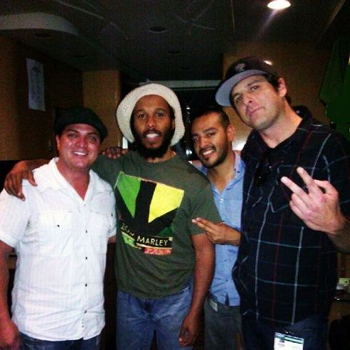 Headshine on tour with Ziggy Marley