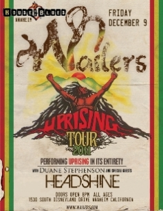 Jamaican reggae-legends The Wailers w/ Headshine @ House of Blues Anaheim