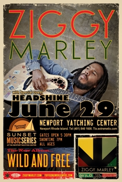 Ziggy Marley with special guest Headshine in Newport Rhode Island