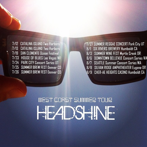 West coast summer tour dates for Headshine